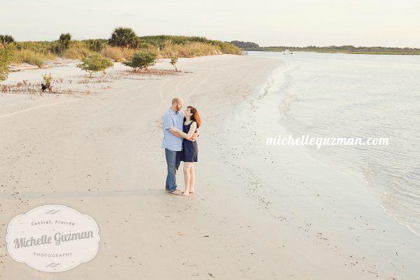 Beach Engagement Photo