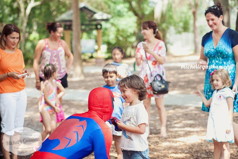Winter Springs Birthday Photographer Spider Man Party